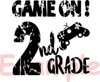 Game On 2nd Grade Silhouette SVG Second Grade back to school game over 887S