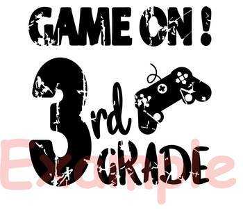 Game On 3rd Grade Silhouette SVG Third Grade back to school game over 888S