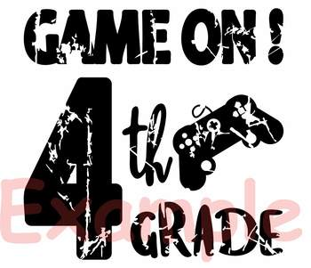 Game On 4th Grade Silhouette SVG Fourth Grade back to school game over 889S