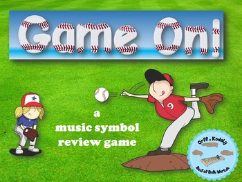 Game On Baseball Edition,  An Interactive Music Game