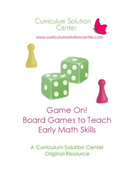Game On! 24 Board Games to Teach Early Math Skills {Centers, File Folder Games}