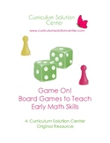 Game On! 24 Board Games to Teach Early Math Skills {Center