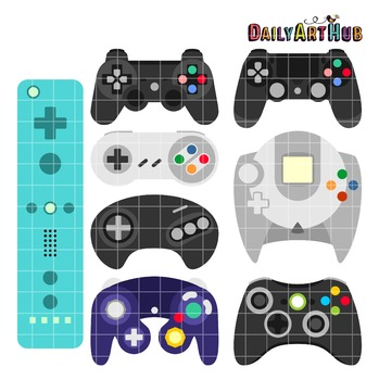 Game On Clip Art - Great for Art Class Projects!