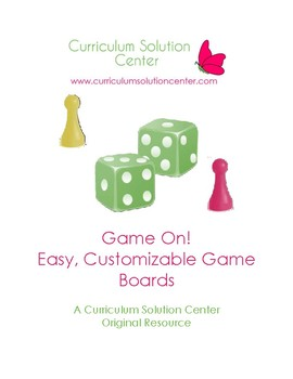Game On! Easy, Customizable Game Boards {Centers}