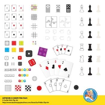 Game Pieces Clip Art
