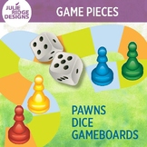 Game Pieces Clip Art Set