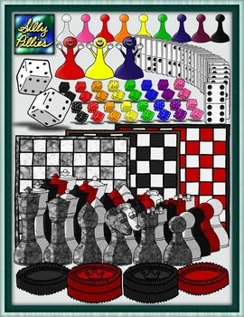 Game Pieces Mega Clip Art Pack