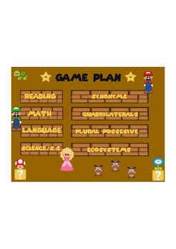 Game Plan for Daily Skills Agenda