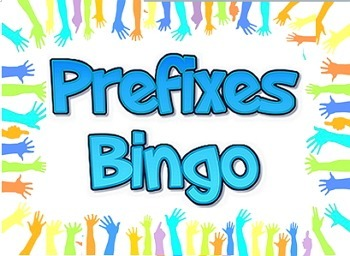 Game: Prefixes bingo (38 cards & 123 clues)