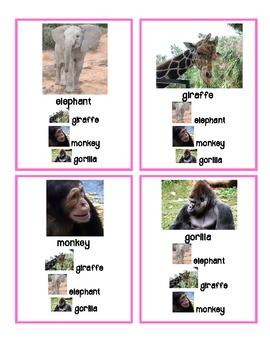 Game: Quartets (6 sets) Zoo Animals - English