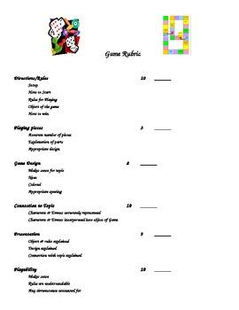 Game Rubric