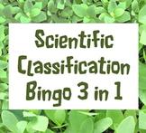 Game: Scientific classification bingo 3 in 1