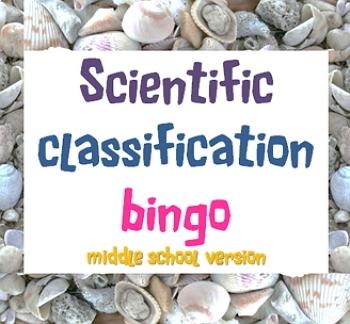 Game: Scientific classification bingo middle school version