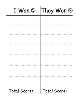 Game Scoring Sheet