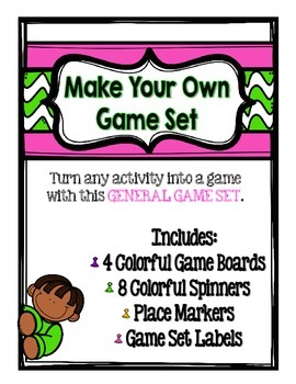 Game Set to use with any Activity- Game boards, Spinners, Place Markers