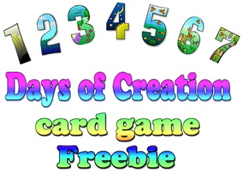 Game: Seven days of creation card game Freebie
