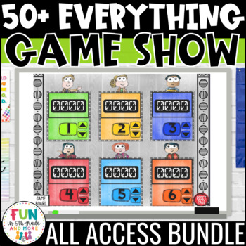 Game Show ALL ACCESS Bundle | Math & ELA Review Games | Distance Learning