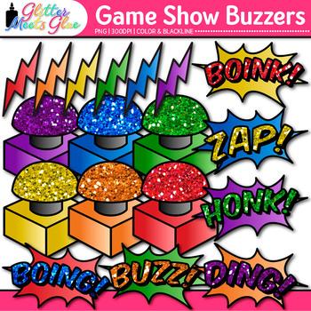 Game Show Buzzer Clip Art {Design Educational Games for Math & ELA}