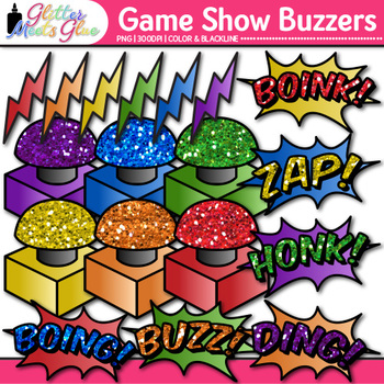 Game Show Buzzer Clip Art | Design Educational Games for Math & ELA