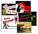 Game Show Mania - Five Fun ELA PowerPoint Review Game Shows