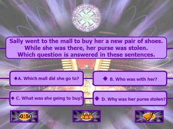 SOL Game Show Reading Review 2 - 3rd Grade