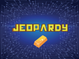 Game Show Review template (Jeopardy)