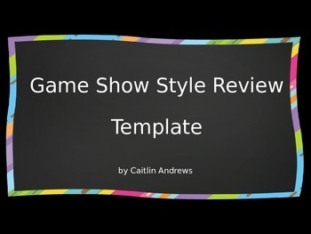 Game Show Style Review Template