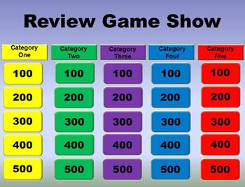 Game Show Template