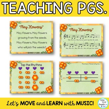 """Music Class Game Song """"May Flowers"""" with Kodaly and Orff Lessons"""