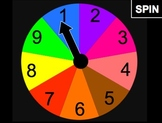 Game Spinner With Numbers