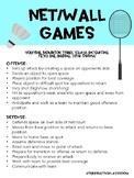 Game/ Sport Strategies: Net/ Wall Games