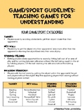Game/ Sport Strategies: Teaching Games for Understanding