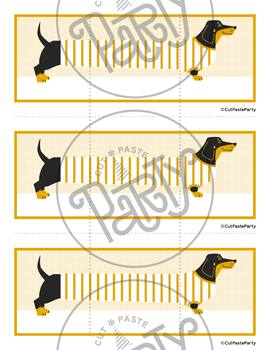Game Template - Open-Ended Dachshund Dog Three Card Multi-Use Matching Game