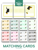 Game Template - Open-Ended Dachshund Dog Three Card Multi-