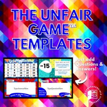 Game Template: The Unfair Game editable Powerpoint and instructions