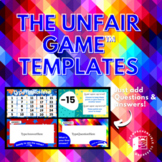 Game Template: The Unfair Game editable Powerpoint and ins