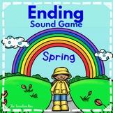 Kindergarten - Special Education - Literacy-Ending Sound Game-Spring