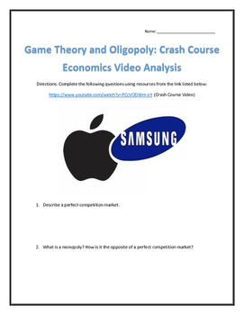 Game Theory and Oligopoly: Crash Course Economics- Video Analysis with Key