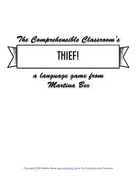 Game: Thief! to practice physical descriptions and direct object pronouns