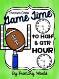 Super Bowl Time 2017 -Telling Time to the Half Hour and Quarter Hour