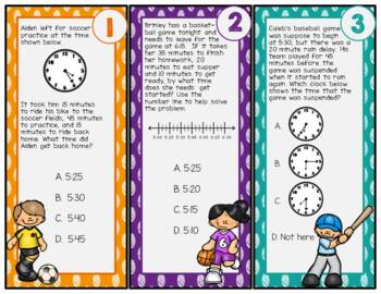 Time Interval Word Problems: TEKS 3.7C; CCSS 3.MD.A.1