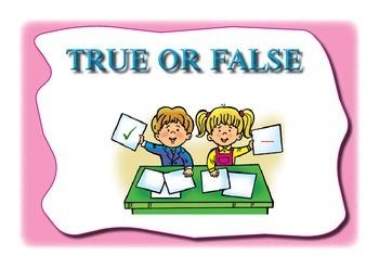 Educational game. True or false.