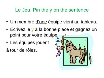 Game: Using the pronouns Y and En
