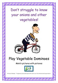 Game - Vegetable Dominoes - pictures - pictures