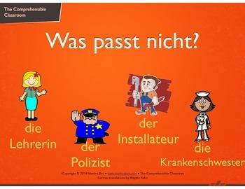 Game: Was passt nicht? German version of 'Odd One Out'