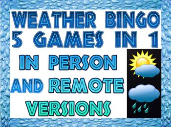 Game: Weather bingo, 41 unique cards and 50+ clues