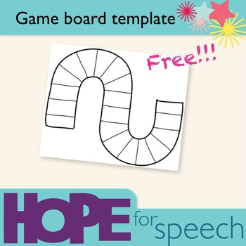 Game board template by Hope for Speech | Teachers Pay Teachers
