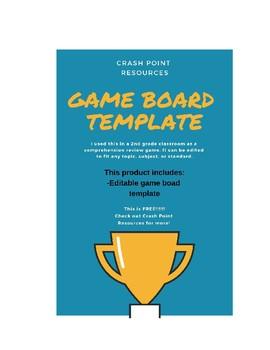 Game board template