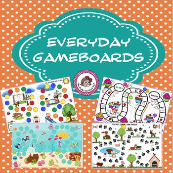 Open Ended Game Boards for Reinforcing Skills - Set 1