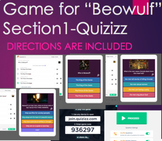 "Quiz & Game for Beowulf Section 1 ""Grendel"" and 2 ""Beowulf"